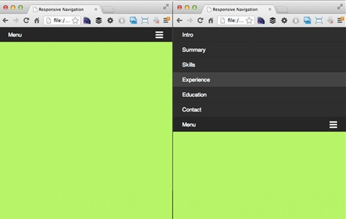 Creating A Simple Responsive Navigation