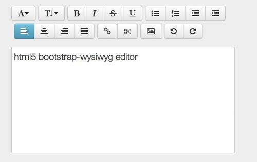 Twitter Bootstrap Html5 Wysiwyg Rich Text Editor