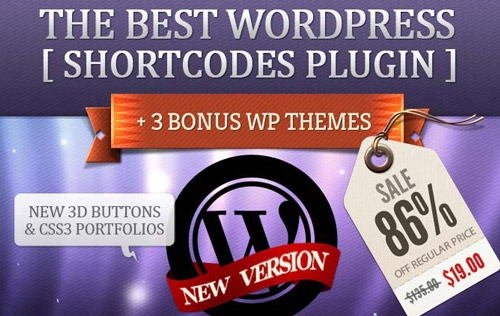 Best Deal: WordPress Shortcodes Plugin + 3 Premium WP Themes - only $19!