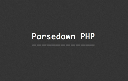 Parsing Markdown with PHP Parsedown Script