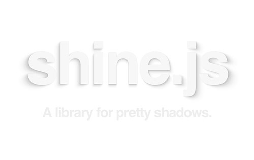 Shine.js - A Library for Pretty Realistic Shadows