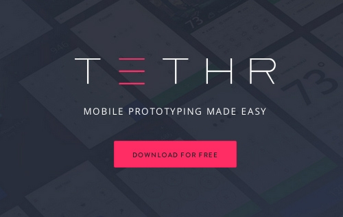 TETHR - The Most Beautiful iOS Design Kit Indeed!