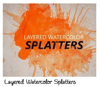 Layered Watercolor Splatters