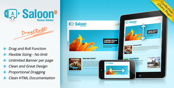 Saloon jQuery Banner Rotator