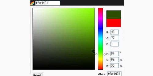 Javascript Color Picker - mooRainbow