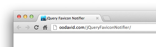 jQuery Favicon Notifier
