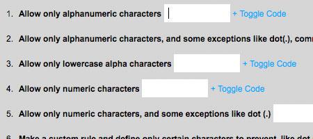 jQuery AlphaNumeric