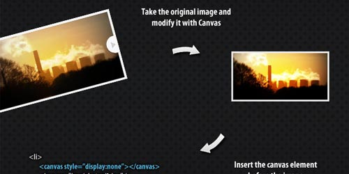 HTML5 Slideshow with Canvas & jQuery