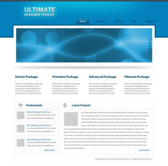 Create an elegant Wordpress PSD Layout