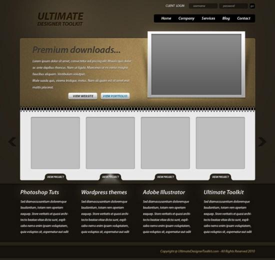 Gritty portfolio layout