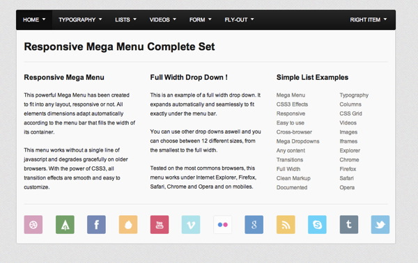 Mega Menu Complete Set