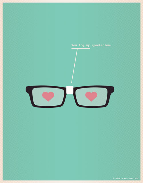 Minimal Design - You fog my spectacles