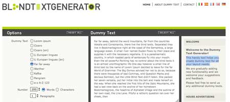 Blind Text Generator