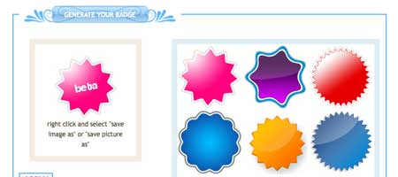 Web 20 Badges Generator