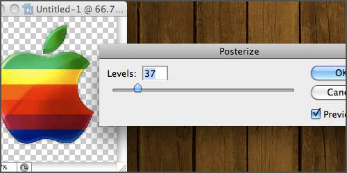 Optimize PNG - Adjust posterize level