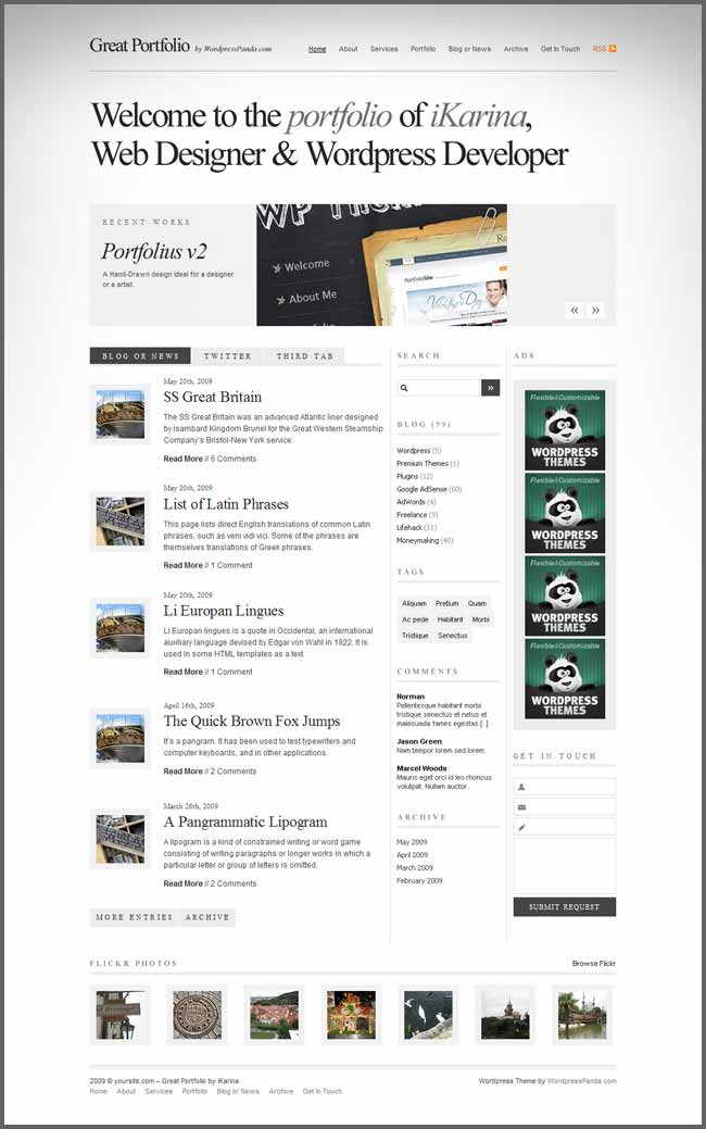 Portfolius v4 Wordpress Theme