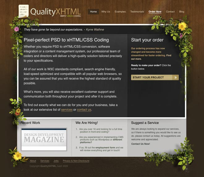 QualityXhtml - Quality PSD to HTML and XHTML / CSS, W3C Standards Compliant, Markup Service
