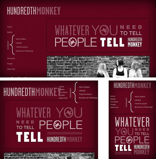 Responsive Typography - Hundredth Monkey