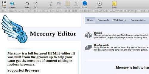 Rich Text Editor - Mercury