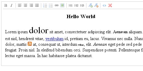 Rich Text Editor - jWYSIWYG