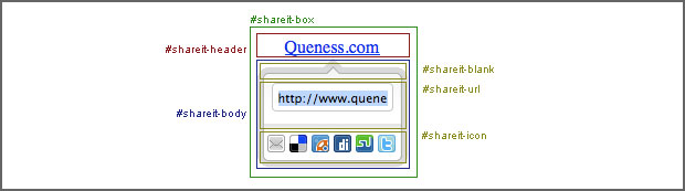Structure for jQuery share it toolbox