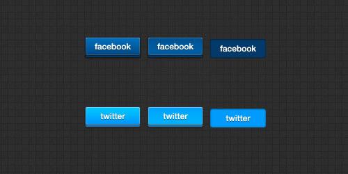 3D Social Button