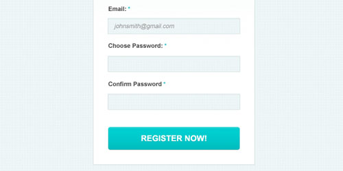 Clean Simple Signup Form PSD
