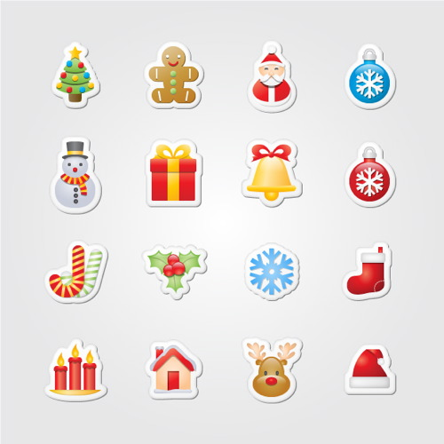 Xmas Stickers Free Icons