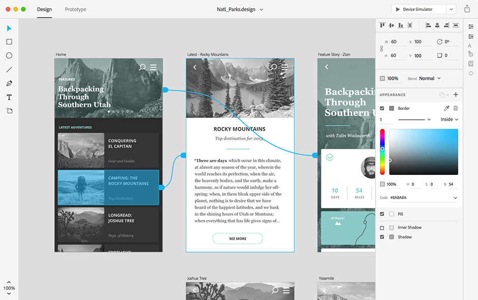 Adobe XD - Interaction, animations and transitions