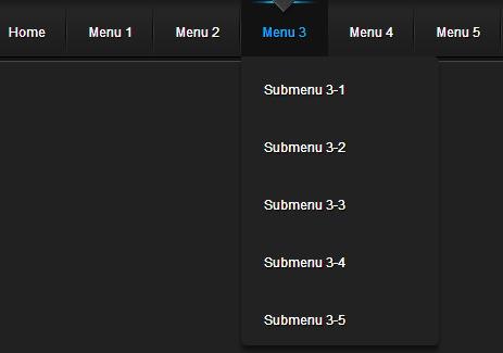 jQuery drop down menus
