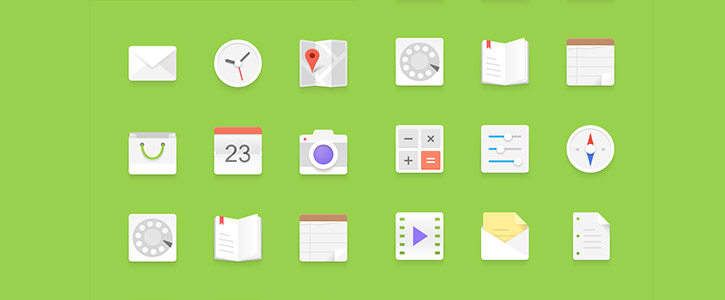 Light Android Icons Set by Graphic Burger