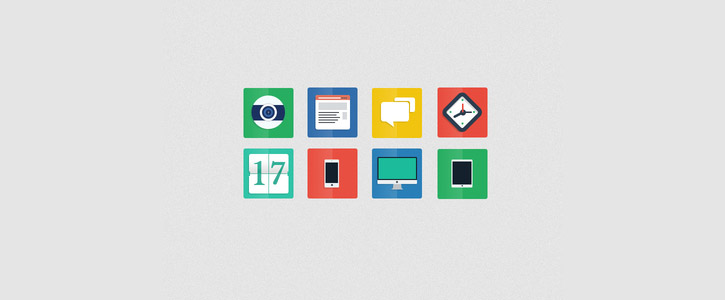 Freebie PSD - Flat Icons by Alberto