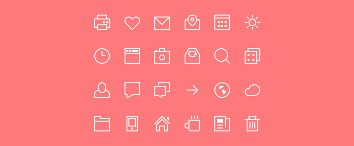 Thin Stroke Icons by Victor Erixon