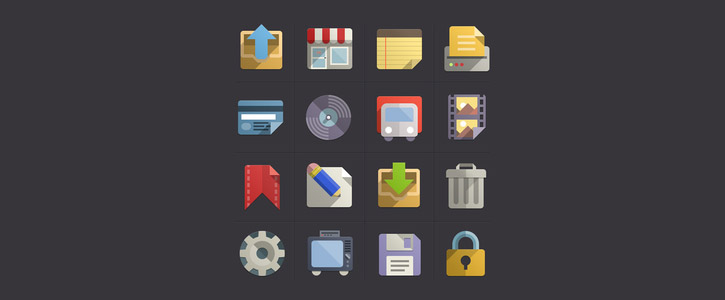 Flat Design Icons Set Vol2 by Pixeden