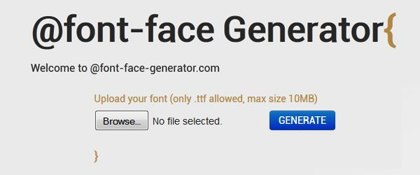 19 Most Useful @Font-Face Generators for Converting Fonts to