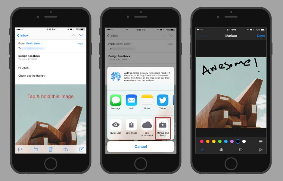 iOS TIps and Tricks - Markup Image in Mail