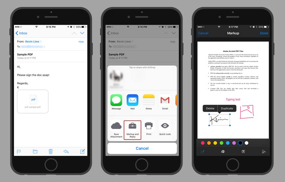 iOS TIps and Tricks - Sign a PDF document