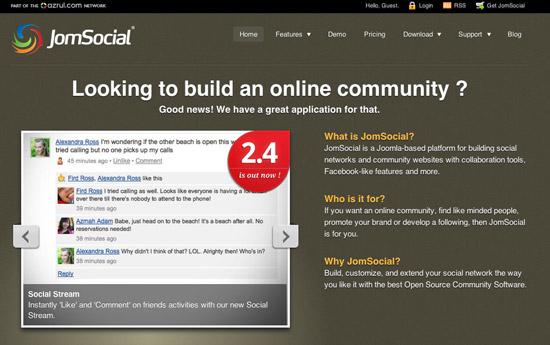 JomSocial - A Social Networking component for Joomla