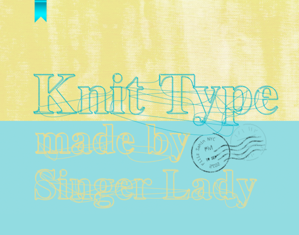 Font that looks like knit
