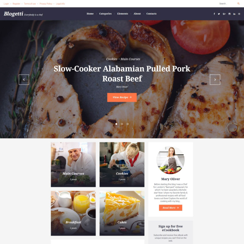 WordPress Theme - Blogetti
