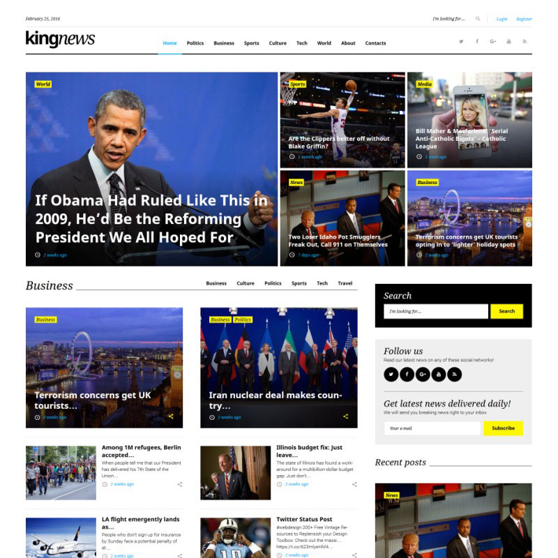 WordPress Theme - KingNews