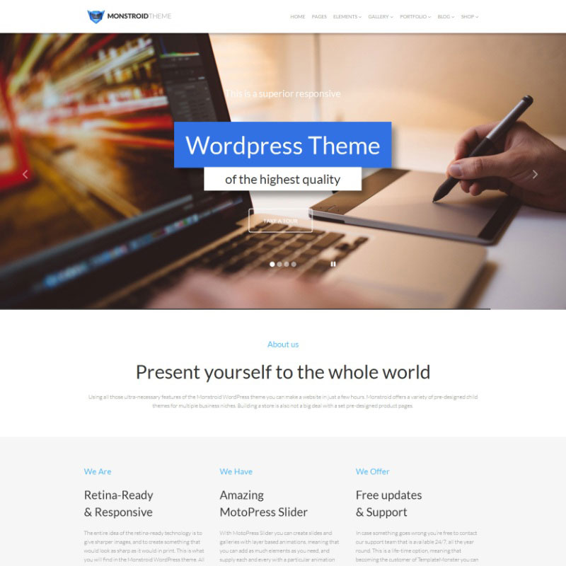 WordPress Theme - Monstroid