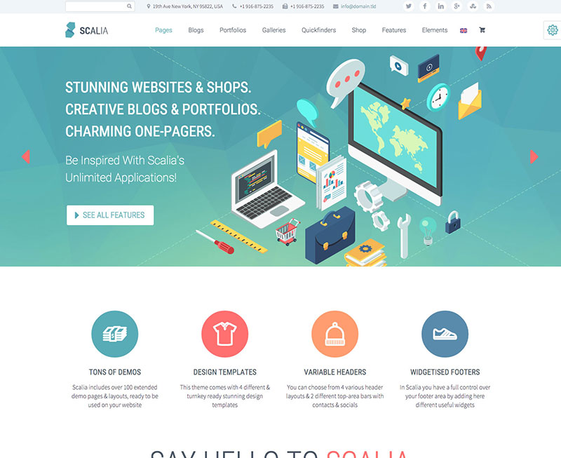 WordPress Theme - Scallia