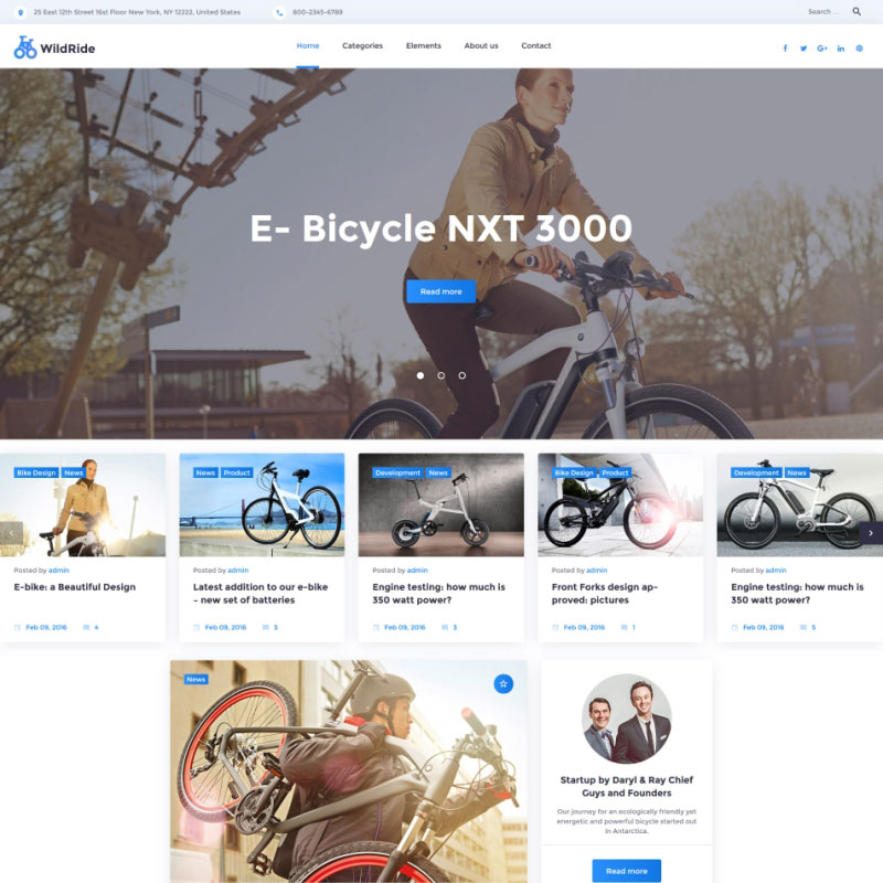 WordPress Theme - WildRide