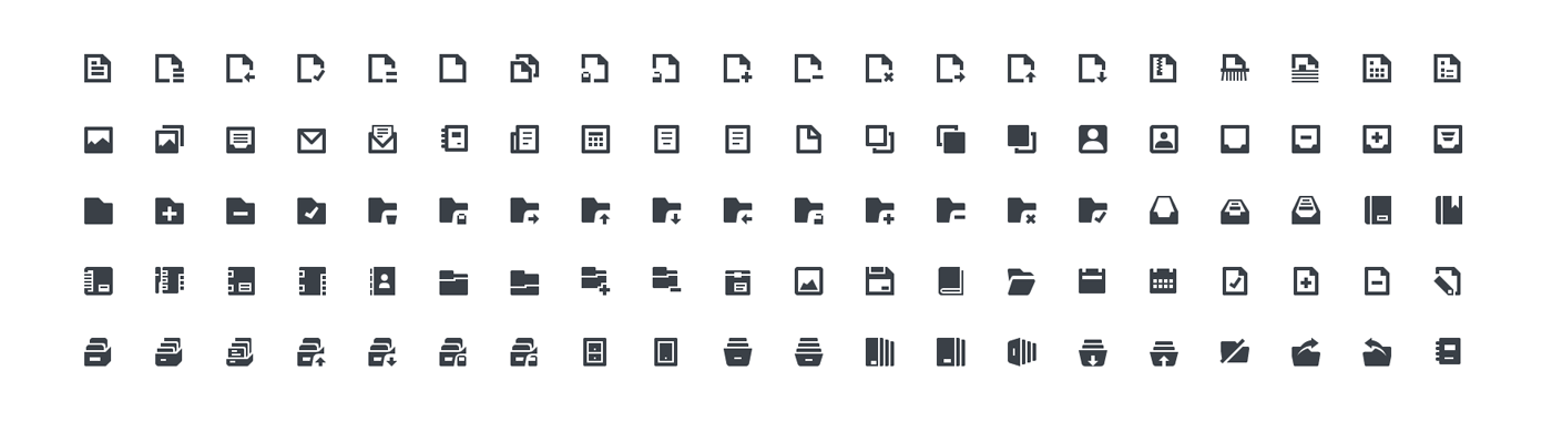 Squid Ink Mini Icon - Files & Folders