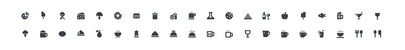Squid Ink Mini Icon - Food & Beverage