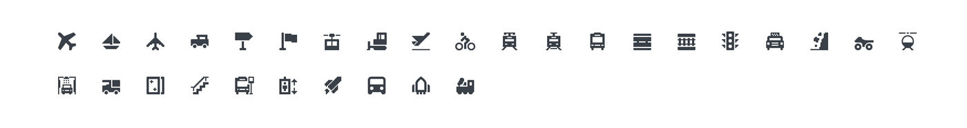 Squid Ink Mini Icon - Transportation