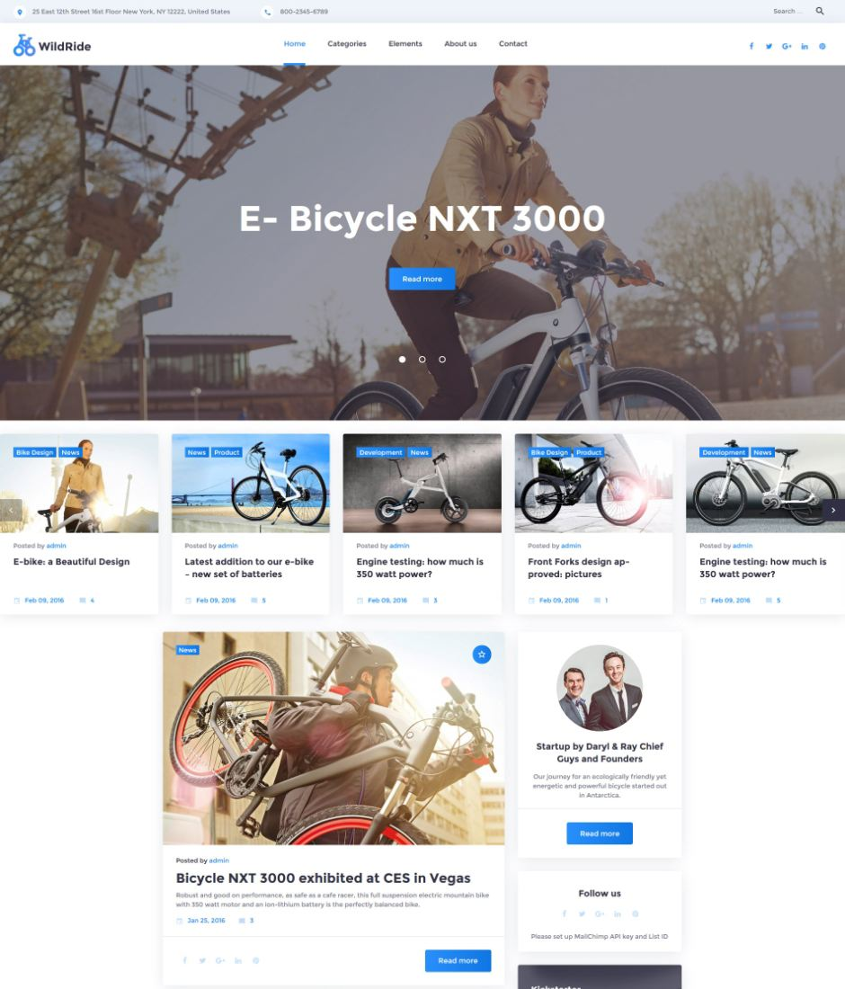 WildRide WordPress Theme