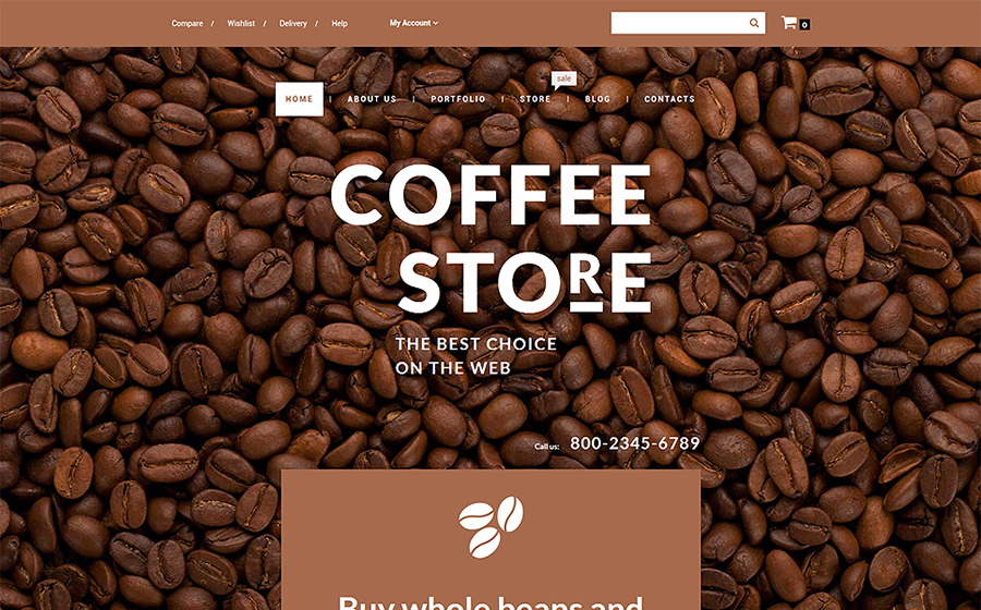 Coffee Shop WooCommerce Template
