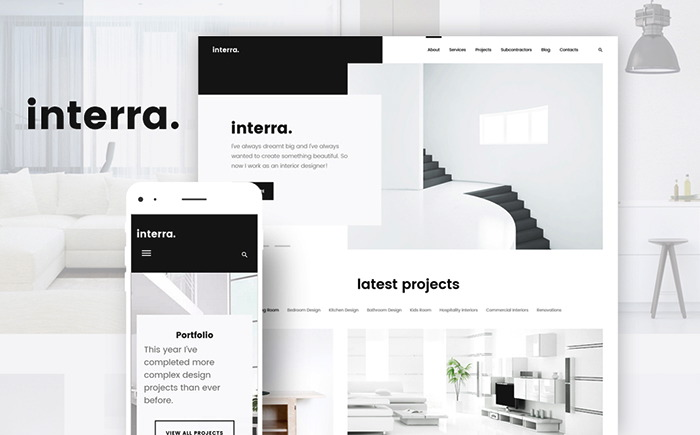 Interra - the Best Interior Design WordPress Theme